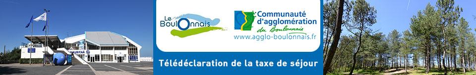 Déclaration de la taxe de séjour Communauté d'Agglomération du Boulonnais