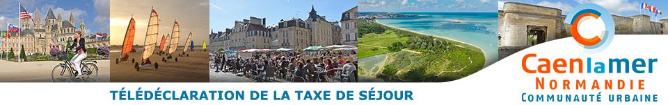 Déclaration de la taxe de séjour Communauté urbaine Caen la mer